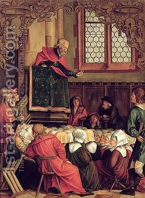 The Sermon of St Peter by Hans Suess Kulmbach - Reproduction Oil Painting