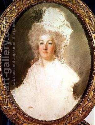 Unfinished portrait of Marie Antoinette 1774-92 by Alexandre Kucharski - Reproduction Oil Painting