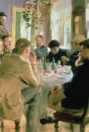 Reproduction oil paintings - Peder Severin Kroyer - Lunchtime