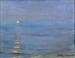 Reproduction oil paintings - Peder Severin Kroyer - Summer Evening Skagen
