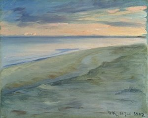 Reproduction oil paintings - Peder Severin Kroyer - The Beach Skagen