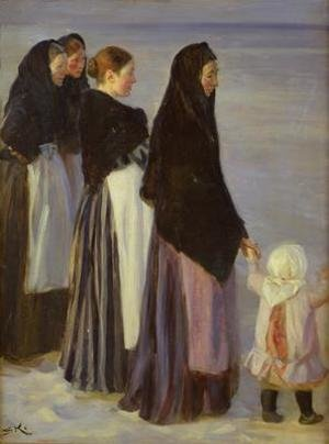 Reproduction oil paintings - Peder Severin Kroyer - The Departure of the Fishing Fleet