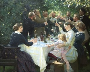 Peder Severin Kroyer reproductions - Hip Hip Hurrah Artists Party at Skagen