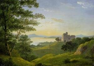 Neo-Classical painting reproductions: Sunset in the Western Highlands