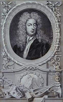 Joseph Addison by (after) Kneller, Sir Godfrey - Reproduction Oil Painting