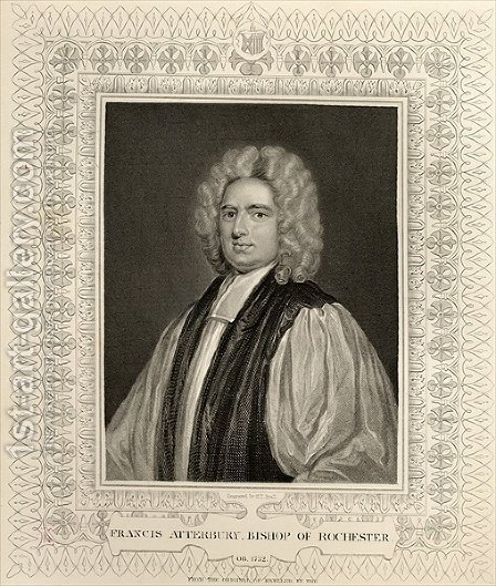 Francis Atterbury Bishop of Rochester by (after) Kneller, Sir Godfrey - Reproduction Oil Painting