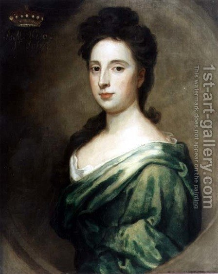 Portrait of Angelina Magdalena 1666-1736 2 by (after) Kneller, Sir Godfrey - Reproduction Oil Painting