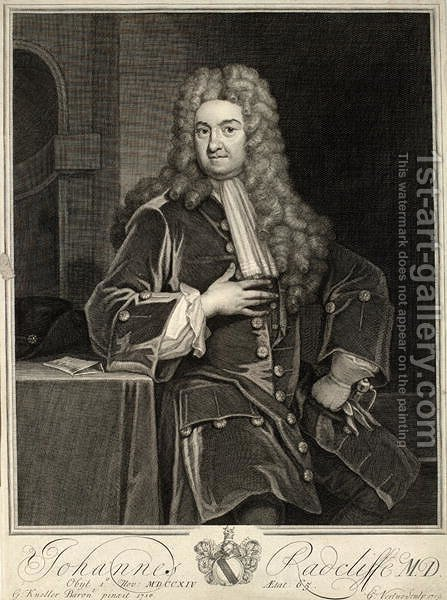 John Radcliffe 2 by (after) Kneller, Sir Godfrey - Reproduction Oil Painting