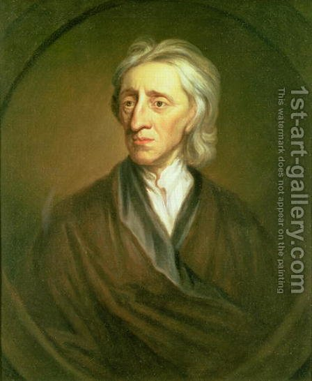 Portrait of John Locke 1632-1704 2 by (after) Kneller, Sir Godfrey - Reproduction Oil Painting