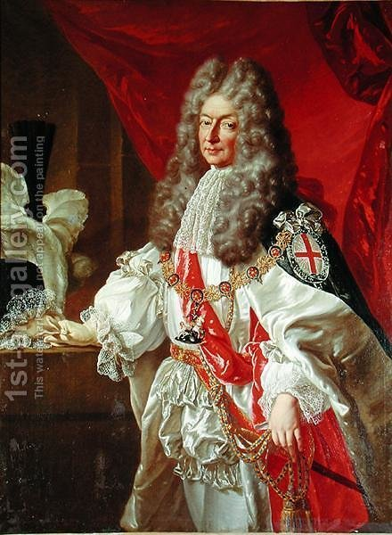 Antoine Nomper de Caumont 1633-1723 Duke of Lauzun by (after) Kneller, Sir Godfrey - Reproduction Oil Painting