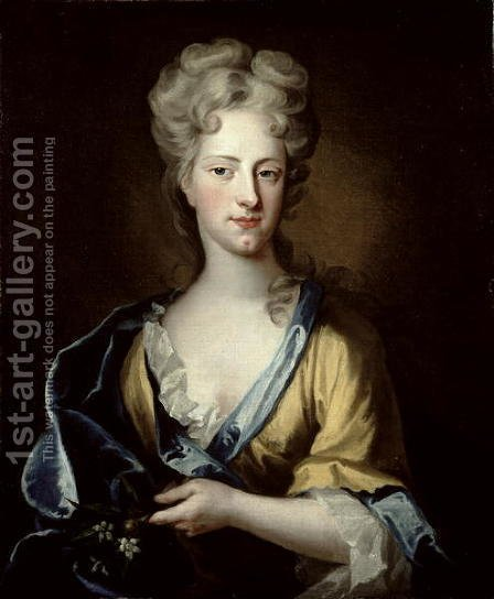 Portrait of Abigail Hill 1734 Lady Masham by (after) Kneller, Sir Godfrey - Reproduction Oil Painting