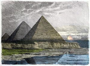 Neo-Classical painting reproductions: The Pyramids of Giza