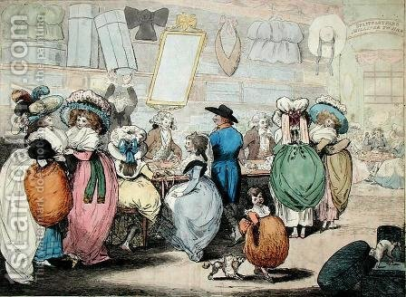 A Milliners Shop by (after) Kingsbury, Henry - Reproduction Oil Painting