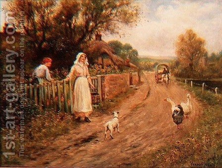 By the Garden Gate by Henry John Yeend King - Reproduction Oil Painting