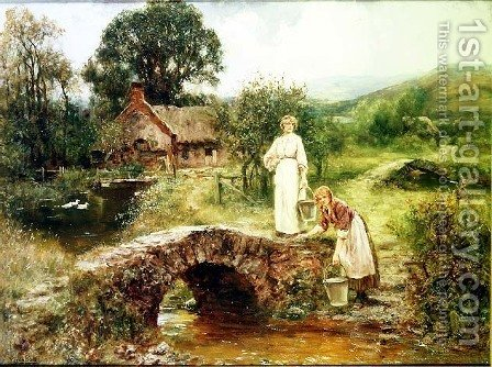 Fetching Water by Henry John Yeend King - Reproduction Oil Painting