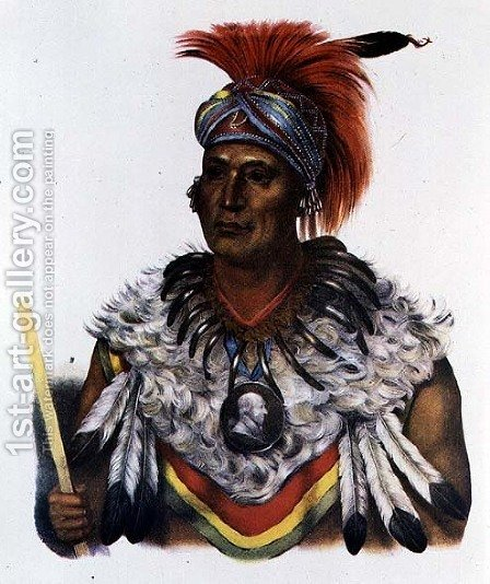 Wapella or the Prince Chief of the Foxes by (after) King, Charles Bird - Reproduction Oil Painting