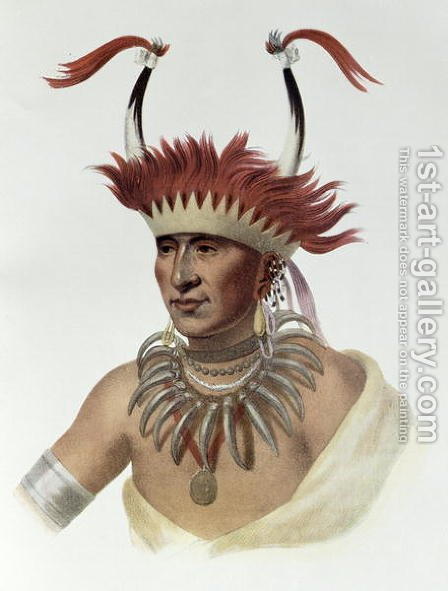 Chon-Mon I Case or LIetan an Oto Half chief by (after) King, Charles Bird - Reproduction Oil Painting