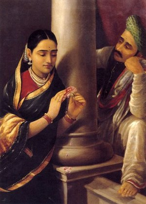 Reproduction oil paintings - Raja Ravi Varma - Stolen Interview