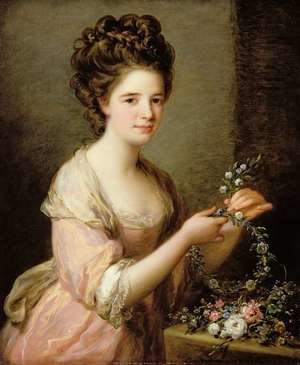 Angelica Kauffmann reproductions - Portrait of Eleanor Countess of Lauderdale