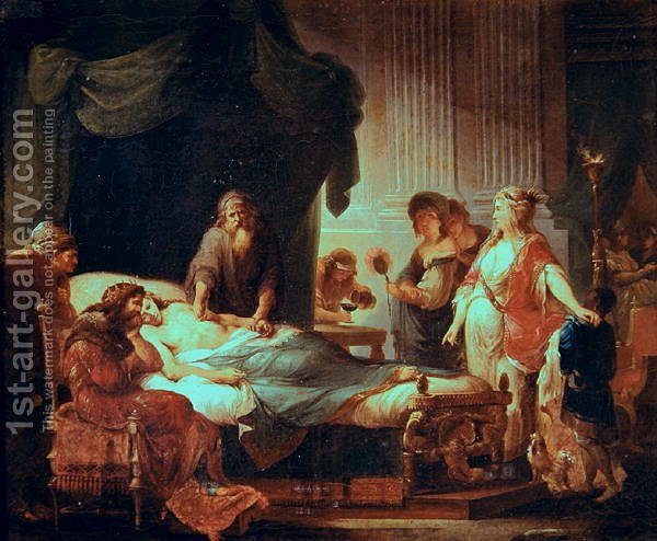 Angelica kauffmann antiochus and stratonice reproduction for Epoca clasica