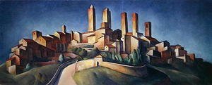 Constructivism painting reproductions: San Gimignano