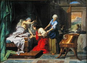 Reproduction oil paintings - Jean-baptiste Jouvenet - Isaac Blessing Jacob