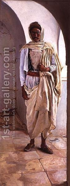 A Berber of Southern Tunis by Harry Hamilton Johnston - Reproduction Oil Painting