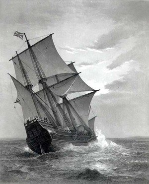 Neo-Classical painting reproductions: The Mayflower