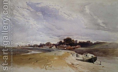 Gillingham on the River Medway Kent by Harry John Johnson - Reproduction Oil Painting