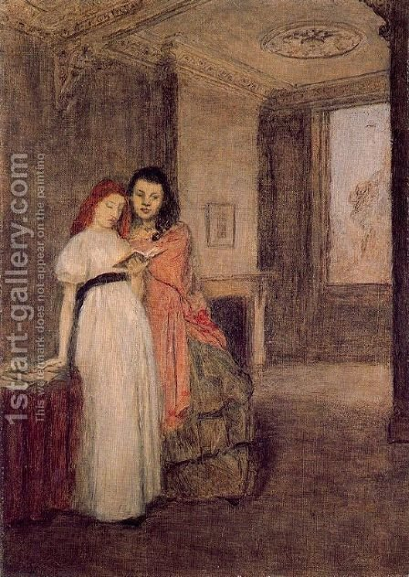 Interior with Figures by Gwen John - Reproduction Oil Painting