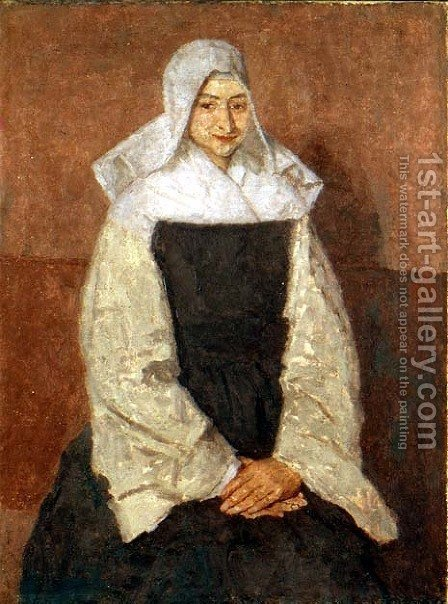 Mother Marie Poussepin 1653-1744 by Gwen John - Reproduction Oil Painting