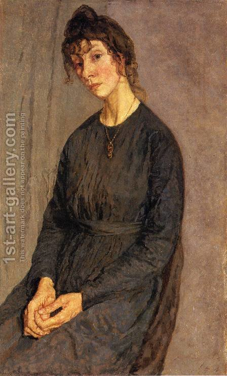 Portrait of Chloe Boughton Leigh by Gwen John - Reproduction Oil Painting