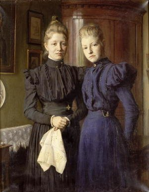 Neo-Classical painting reproductions: The Two Sisters