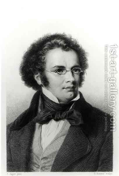 Portrait of Franz Schubert 1797-1828 by (after) Jager (Jaeger), Carl - Reproduction Oil Painting