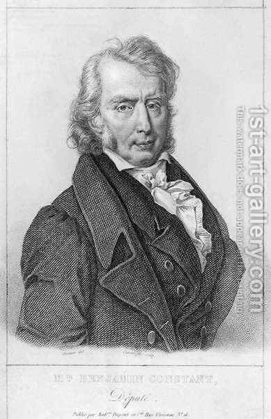 Henri Benjamin Constant de Rebecque 1767-1830 as Deputy by (after) Jacques - Reproduction Oil Painting
