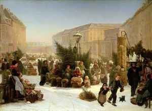 Famous paintings of Christmas: Selling Christmas Trees
