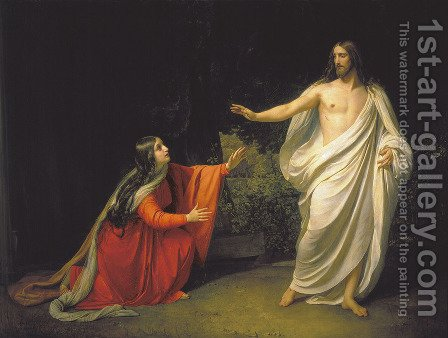 The Appearance of Christ to Mary Magdalene by Alexander Ivanov - Reproduction Oil Painting