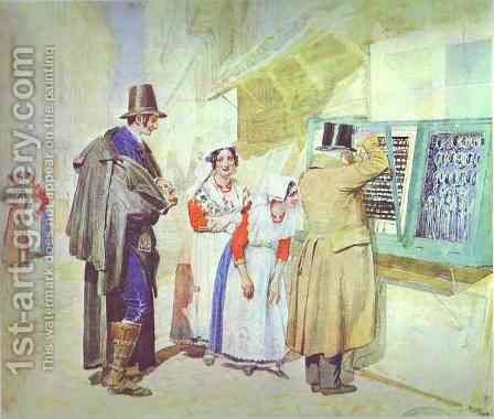 A Fiance Buying a Ring for his Bride by Alexander Ivanov - Reproduction Oil Painting