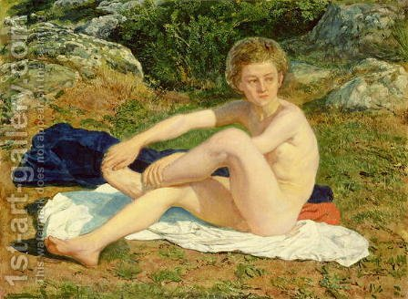 A Naked Boy by Alexander Ivanov - Reproduction Oil Painting