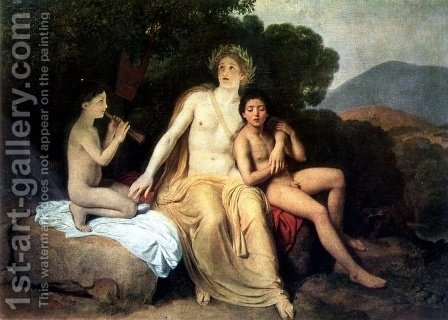 Apollo with Hyacinthus and Cyparissus Singing and Playing by Alexander Ivanov - Reproduction Oil Painting