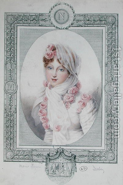 Portrait of Marie Laczinska 1786-1817 Countess Walewska by (after) Isabey, Jean-Baptiste - Reproduction Oil Painting