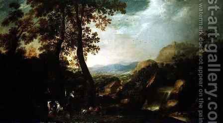 Landscape with Torrent by Ignacio de Iriarte - Reproduction Oil Painting
