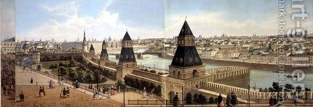 The Foundling Hospital and Zamoskvoreche from the Kremlin by (after) Indieitzeff, Dmitri - Reproduction Oil Painting