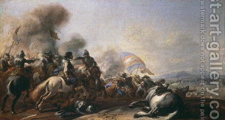 Battle Scene by Il Borgognone - Reproduction Oil Painting
