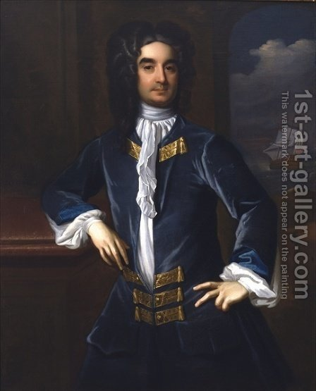 William Byrd II by Hans Hysing - Reproduction Oil Painting
