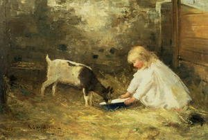 Famous paintings of Goats: The Kid