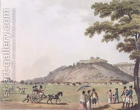 A View of Mount St Thomas by (after) Hunter, Lieutenant James - Reproduction Oil Painting