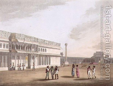 The Square and Entrance into Tippoos Palace Bangalore by (after) Hunter, Lieutenant James - Reproduction Oil Painting
