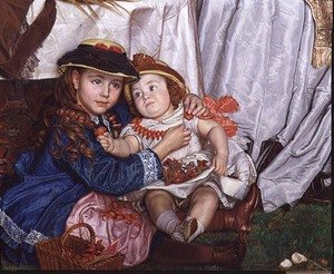Lady Fairbairn with her Children detail of Constance and James