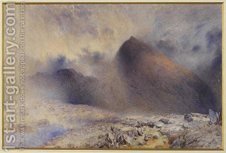 Alfred William Hunt: Mount Snowdon through Clearing Clouds - reproduction oil painting